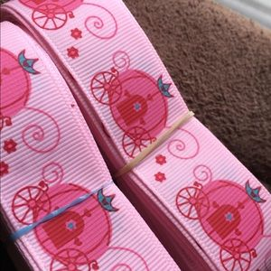 """Grosgrain Ribbon 7/8"""" 5 yards 5/$20 Carriages pink"""